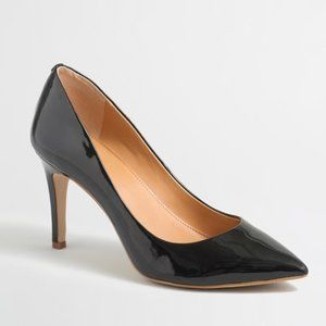 J. Crew Factory Isabelle Black Patent Leather Pointed Toe High Heel Pumps